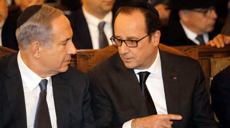 Netanyahu 'ignored French plea to stay away'