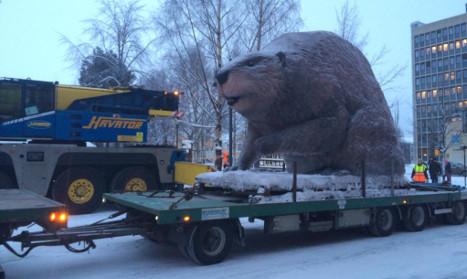 Sweden's Luleå carves spot for giant beaver