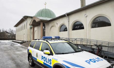 Uppsala mosque hit in third firebomb attack