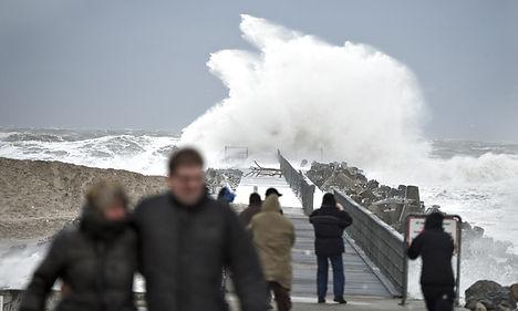 Denmark braces for 'double storm'