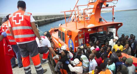 150 migrants rescued in waters off Spain