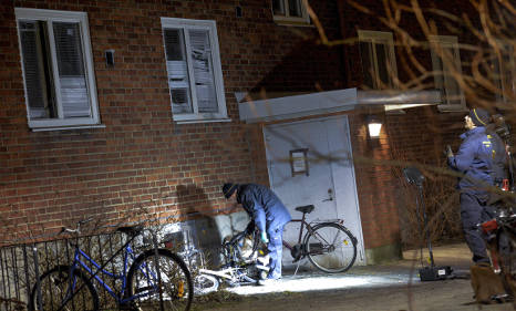 Explosion outside Malmö apartment building
