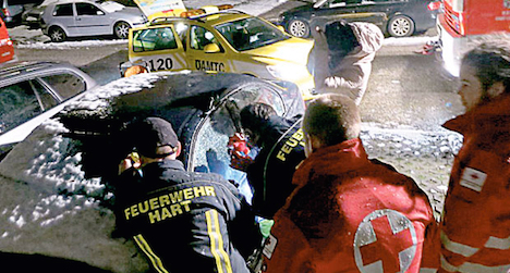Two-year old trapped in ice-cold car