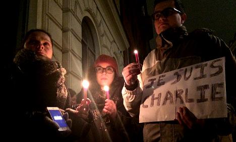 Stockholmers join global Paris shooting vigils