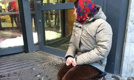 Meet northern Sweden's frozen Roma beggars