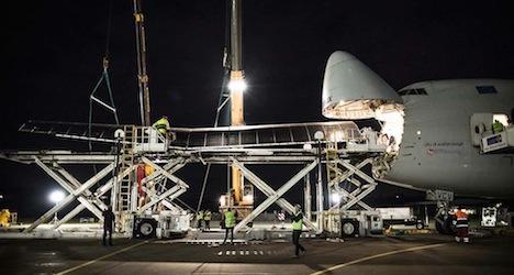 Solar Impulse heads to Emirates in pieces