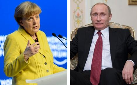 Merkel phones Putin over Ukraine violence