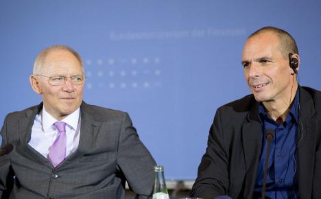 German, Greek finance ministers butt heads