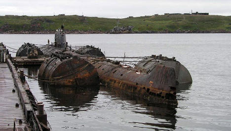 Soviet subs risk 'slow Chernobyl' in Norway