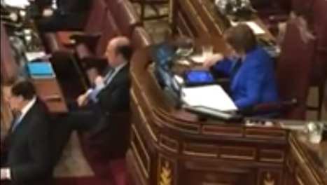 Speaker played Candy Crush during PM address