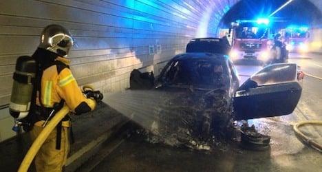 Tunnel fires snarl traffic in Geneva and Zurich
