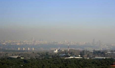 Madrid locals curse pollution 'beret'