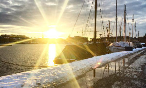 Gothenburg basks in record February sun