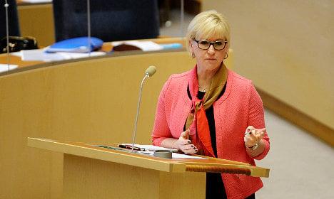 Wallström presents Sweden's foreign policy