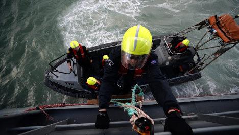 The seamen battling a tide of human misery