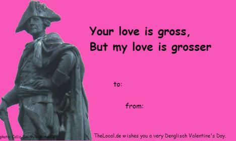 Some very Denglisch Valentines