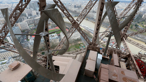 Paris: Iron Lady goes green with power of wind