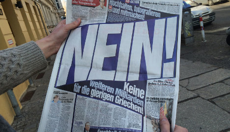 BILD says 'NEIN' to Greece bailout extension