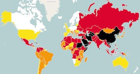 Swiss press freedoms drop in global index