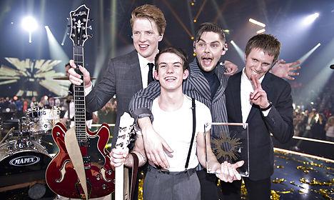 VIDEO: Denmark sends 'boy band' to Eurovision