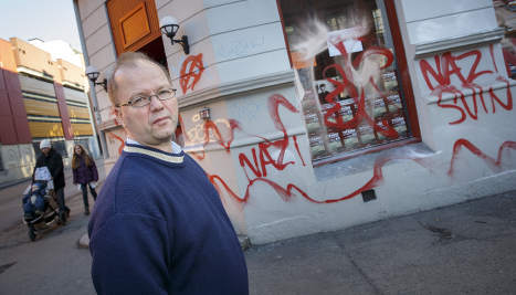 Muslim offer to clean Nazi graffiti refused