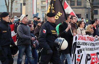Linz's second Pegida demo rings up €250,000