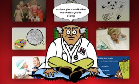 Inside the virtual hospital calming Swedish kids