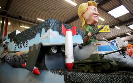 Troops tote broomsticks at Nato war games