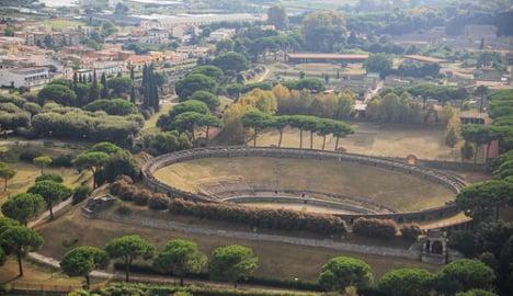 Pompeii wall collapses amid heavy rain