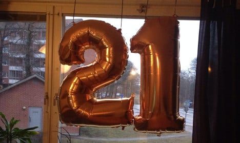 Swede's 21st balloons dubbed 'IS' propaganda