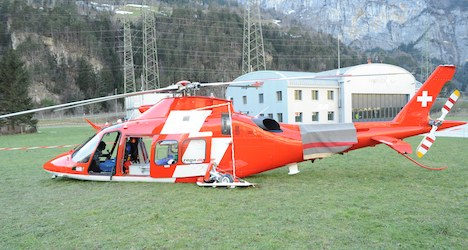 Three injured as rescue helicopter crash lands
