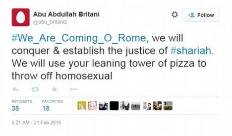 In pictures: Italians mock Isis on Twitter