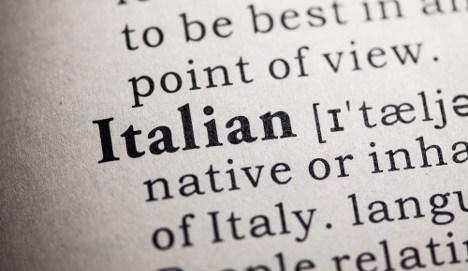 Italians 'don't love' their language