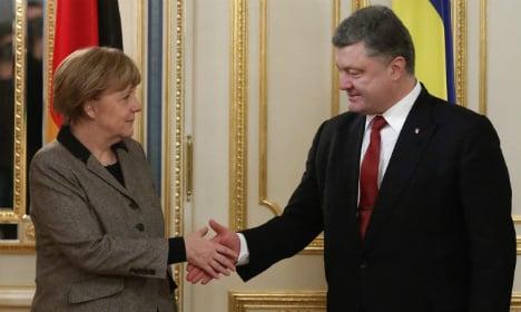 Merkel-Hollande visit 'gives hope for peace'