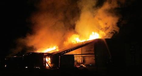 Fire destroys Valais discotheque and bar