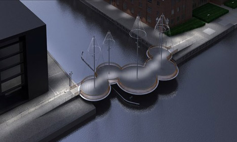 VIDEO: Copenhagen's moving circle bridge