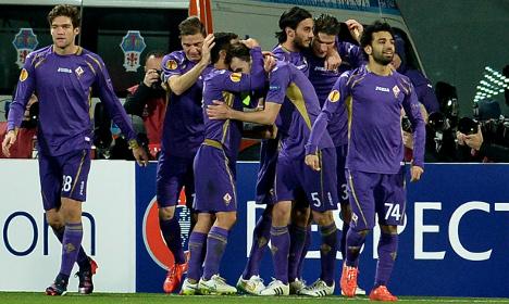 Fiorentina win spot in Europa League last-16