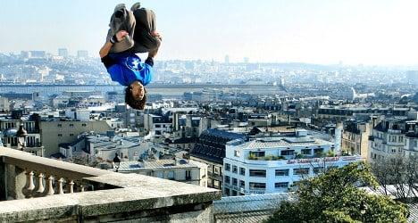 Meet the high flyer who leaps across Paris