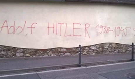 Two arrests in Nazi graffiti case