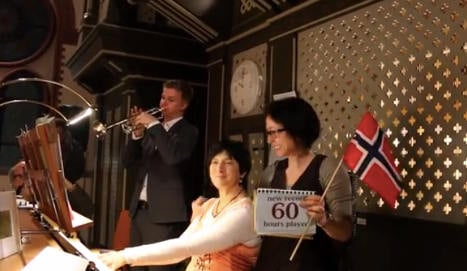 Norwegian sets 60-hour organ marathon record