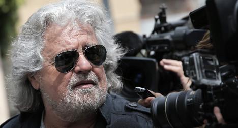 Uproar as Grillo likens Renzi to crash pilot