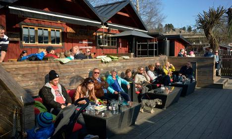 Spanish spring weather arriving in Sweden