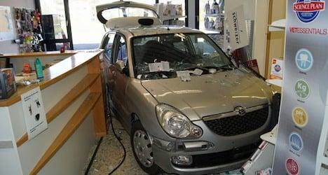 Elderly motorist crashes car into vet's office