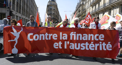 Anti-austerity protests sweep across France
