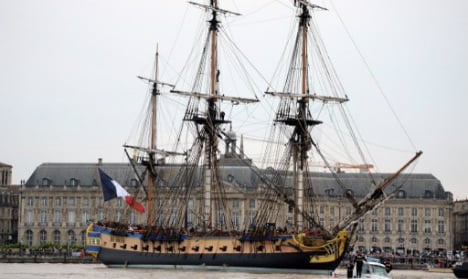 French ship 'Hermione' sets sail again