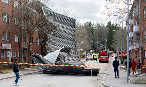 Weather chaos as 50mph winds batter Sweden