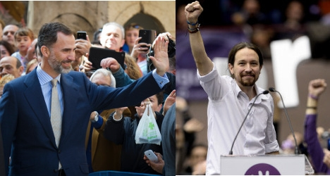 King Felipe VI given unusual gift by Podemos