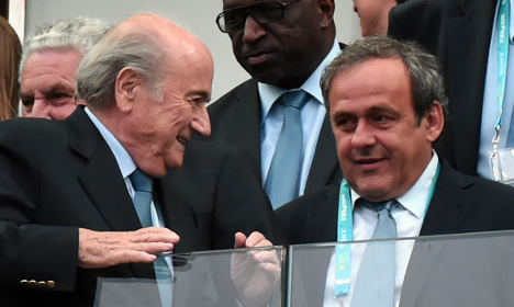 France's Michel Platini tells Blatter to quit Fifa