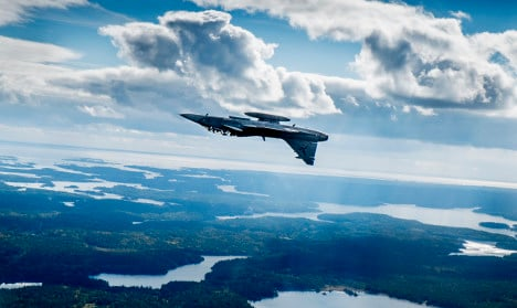 Russian bombers caught close to Swedish island