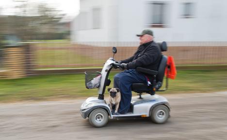 Daredevil pensioner in reckless road rampage
